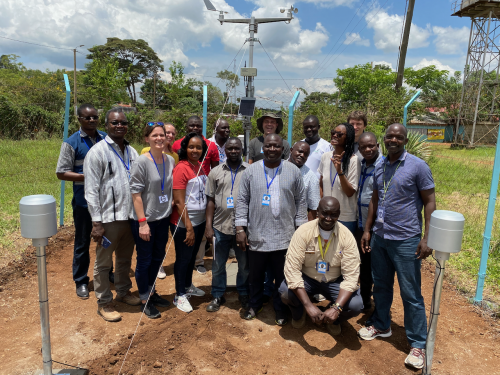 Setting up first weather station in the Siaya HDSS, Kenya - March 2020